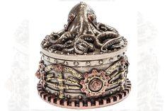 Steampunk Octopus, Decorative Boxes, Decorative Storage Boxes