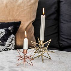 #Kerzenständer #kupferfarben #stern #metall #handarbeit #stylish #festlich Pink, Candles, Design, Copper Color, Candle Holders, Christmas Tree Decorations, Xmas Gifts, Christmas Time, Christmas Decor