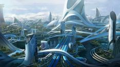 This HD wallpaper is about future architecture digital wallpaper, Leon Tukker, science fiction, Original wallpaper dimensions is file size is Futuristic City, Futuristic Architecture, Future City, Organic Architecture, Architecture Design, Do Aliens Exist, Sci Fi Stadt, Landscape Arquitecture, Sci Fi City
