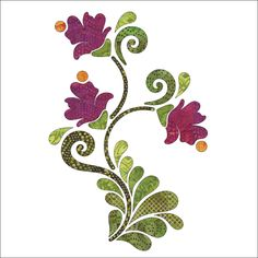 (7) Name: 'Quilting : Applique Add On's - Feathered Blossoms