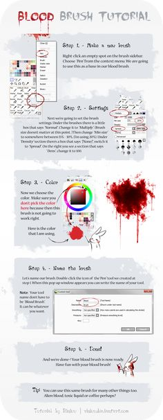 SAI Blood Brush Tutorial by Riniuu.deviantart.com on @deviantART