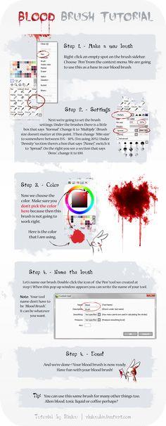 SAI Blood Brush Tutorial by Riniuu.deviantart.com on @deviantART