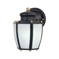 Westinghouse 6451600 One-Light Exterior Wall Lantern w/ Sensor Black