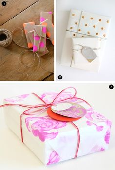 DIY wrapping paper with rolling pin