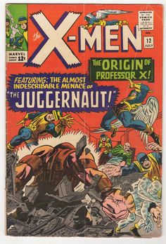 #certified #graded #cgc #cpgx #art #DC #Marvel #comic X-Men #12 GD+ Marvel 1965 Marvel 1st Juggernaut & Origin Professor X KIRBY art