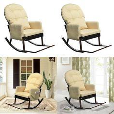 Comfortable Deluxe Relax Rocking Chair Outdoor Furniture Glider Patio Wicker Outdoor Garden Furniture, Garden Chairs, Outdoor Chairs, Patio Dining, Dining Set, Furniture Gliders, Rocking Chair, Wicker, Relax