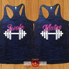 Swole Mates Best Friends Workout Tank - BurnoutTanks For Gym Workout Apparel Besties Burnout
