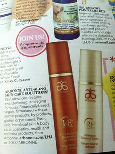 Arbonne's RE9 Advanced line is now featured in Ladies Home Journal as a must-have product.