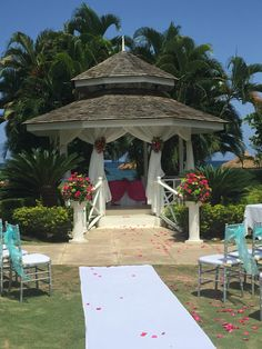 The ocean view gazebo at the future Sunscape Splash & Sunscape Cove in Montego Bay, Jamaica! Opening December 2015.