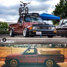 mk4 Toyota Hilux mini truck Nissan Trucks, Toyota Trucks, Toyota Cars, Toyota Hilux, Bagged Trucks, Pickup Trucks, Custom Trucks, Custom Cars, Drift Truck