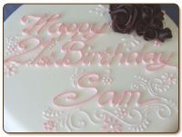 Learn piping techniques, plus how to create lettering and writing on cakes
