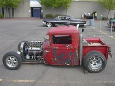 pictures of rat rod trucks Rat Rod Trucks, Rat Rod Cars, Cool Trucks, Rat Rods, Big Trucks, Cool Cars, Truck Drivers, Dually Trucks, Semi Trucks