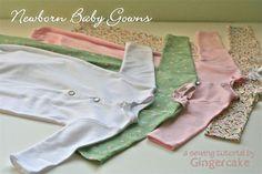 Newborn baby gown pattern