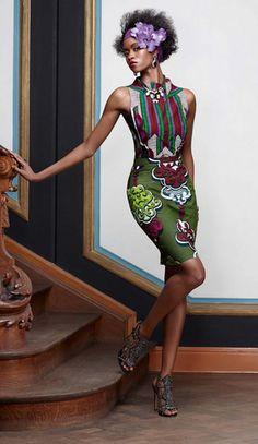 Gabriela Sánchez y Sánchez de la Barquera new Wax design for the Vlisco collection Splendeur. www.gsysb.com/vlisco