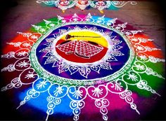 Rangoli - one of the most popular, traditional way of decorating the entrance for events.