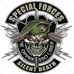Special Forces T Shirt De Oppresso Liber Silent Death Military Skull on PopScreen