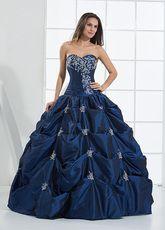 Vestido de fiesta de azul francia - Milanoo.com