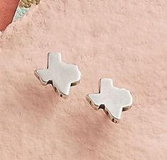 Valentine Collection 2016 - Tiny Texas Ear Posts #jamesavery