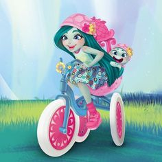Enchantimals dolls are a group of lovable girls who have a special bond with their animal friends, and even share some of the same characteristics. Monster High, Shoppies Dolls, Pet Paws, Witch Art, Beautiful Fairies, Animal Wallpaper, Lego Friends, Custom Tumblers, Cute Images