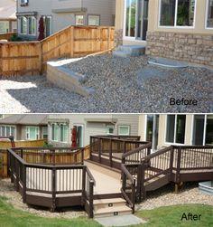 Great sloped deck design