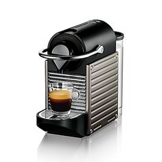 Crafted for smaller spaces, the Pixie Coffee Machine from Nespresso by Breville delivers delicious results in a compact design. This space-saving coffee maker features a 19-bar high-pressure pump so you can brew barista-style coffee right at home.