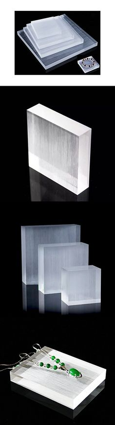 Display Block Platform Fine Exhibition Jewelry Art Store Gallery Trade Shows (Set of 5) (Glossy)