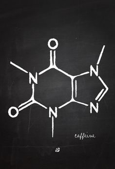The only chemistry I will ever need to know. For all you science buffs- happy caffeinating!  #LostBumblebee ©2014 Caffeine Chemistry 101 FREE PRINTABLE