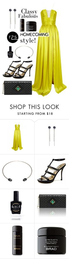 """""""Homecoming style"""" by runway2street ❤ liked on Polyvore featuring The 2nd Skin Co., Emy Mack, Lauren B. Beauty and Kristina George"""