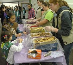 Girl Scout Troop #2447: Cookies for the tasting booth at the Rally! Brilliant!