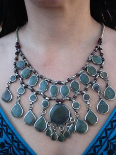 Vintage Tribal Kuchi Jade Necklace