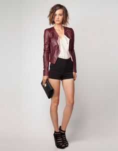 @Bershka leather jacket - perfect fall outfit