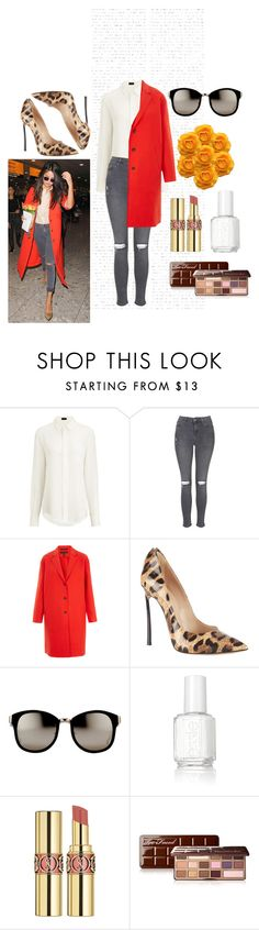 """""""Red !"""" by omastova-k ❤ liked on Polyvore featuring Joseph, Topshop, rag & bone, Casadei, Linda Farrow, Essie, Yves Saint Laurent, Too Faced Cosmetics, women's clothing and women's fashion"""
