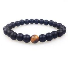 Onyx and Tiger Eye Bracelet
