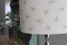 Bee lampshade handmade by www.rachel-bonas.com