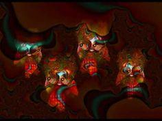 Arte fractal experimental, poesía de códigos no verbales que transforman las palabras en íconos o figuras creadas a partir de elementos fractales. El elemento visual y la música se amalgaman para conmover la percepción del espectador.