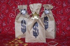 wild west loot favor with instructions, super easy, quick, and cheap! for awards?