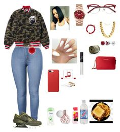 """""""Wednesday 1/4/16 going to lazer tag❤️++"""" by aleciadowdemll ❤ liked on Polyvore featuring beauty, Ace, L.K.Bennett, NIKE, Fantasy Jewelry Box, Michael Kors, Soul Journey, BERRICLE, Dove and Happy Plugs"""