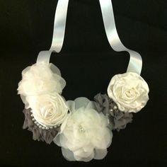Accessories Fabric flower statement necklace for sale  etsy: HandmadeByAnastasia
