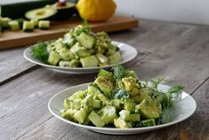 Looking for a flavourful and easy to prepare salad that works as a starter or as a main? Try our CUCUMBER, AVOCADO & FETA SALAD - something fabulous awaits! Healthy Low Carb Recipes, Vegetarian Recipes Easy, Veggie Recipes, Ketogenic Recipes, Easy Salads, Healthy Salads, Cucumber Recipes, Feta Salad, Mediterranean Recipes
