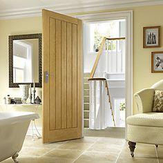Wickes Geneva Internal Oak Veneer Door 5 Panel - May 29 2019 at Oak Interior Doors, Oak Doors, Wooden Doors, Veneer Door, Wooden Door Design, Timber Door, Interiors, Canisters, Living Room