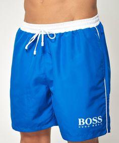 Blå Hugo Boss Star Fish badeshorts - ModeJagten