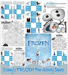 Disney's FROZEN – Free Printable Activity Sheets #printables #Disney #Frozen
