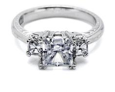 Tacori Platinum 3 Stone Engagement Ring