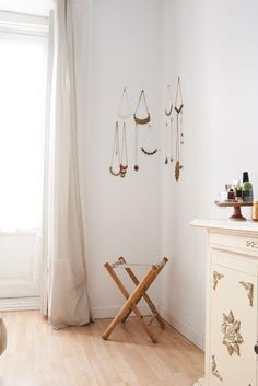 Jewelry storage as wall art.