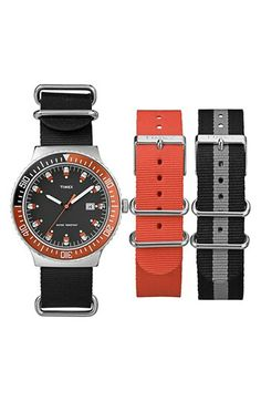 Timex® 'Vintage Diver' Watch & Interchangeable Strap Set available at #Nordstrom