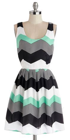 Love the chevron and the colors!