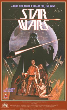 Star Wars Ralph McQuarrie Tribute Poster - by Lawrence Noble