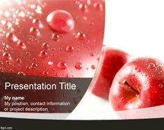Red Apple PowerPoint Template is a free nature template for PowerPoint presentations that you can download for presentations on natural drinks or foods with fresh images and fresh apple in the slide design