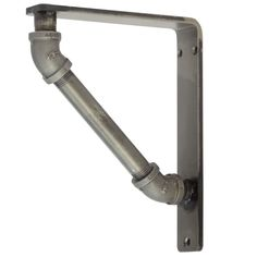 """Our Industrial Wrought Iron Corbel Measures 1.5"""" Wide is available in 6 bracket sizes and 5 finishes. Bracket is made and sold by Timeless Wrought Iron"""