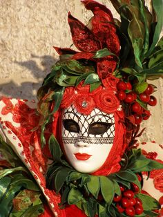 Cherries.  Venice Carnival 2014 by Lesley McGibbon
